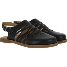 El Naturalista Ladies Tulip Vaquelita Black Sandals