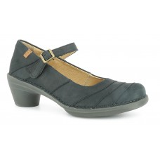 El Naturalista Aqua Pleasant Ladies Black Mary Jane Shoes