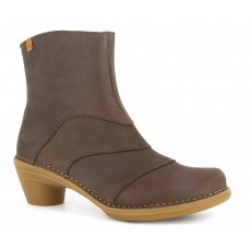 El Naturalista Aqua Pleasant Ladies Brown Ankle Boots