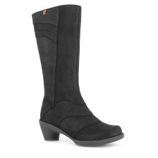 El Naturalista Aqua Pleasant Ladies Black Long Boots