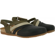 El Naturalista Ladies Zumaia Soft Grain Multi Black Sandals
