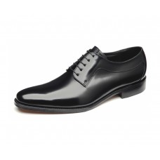 Loake Plain Oxford Style Neo Black Lace up Shoes