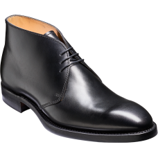 Barker Derby Boot Style Orkney Mens Black Calf Shoes (08)