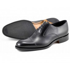 Loake Oxford Toe Cap Style Outlaw Black Mens Shoes