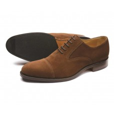 Loake Oxford Toe Cap Style Outlaw Brown Suede Mens Shoes