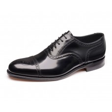 Loake Overton Oxford Brogue Style Black Mens Shoes (12)