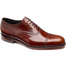 Loake Overton Oxford Brogue Style Brown Mens Shoes (12)