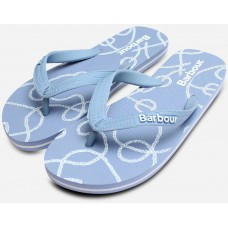 Barbour Rope Print Light Blue Ladies Sandals