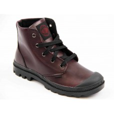 Palladium Pampa Hi Leather Granata Black Mens Boots (07)