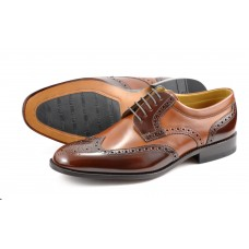 Loake Derby Brogue Pangbourne  Brown Shoes
