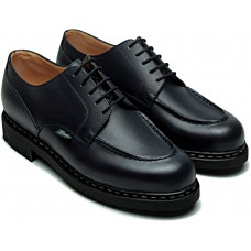 Paraboot Chambord Black Ladies Leather Lace Up Shoes