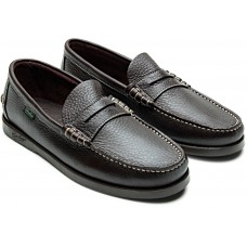 Paraboot Coraux/Marine Leather Men's Foulonne Brown Moccasin