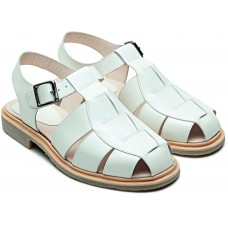 Paraboot Iberis White Gloss (Gloss Blanc) Leather Ladies' Sandals