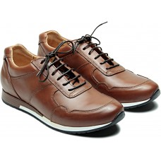 Paraboot Jeux Athle Mens Lis Gold Brown Trainers (CLEARANCE)