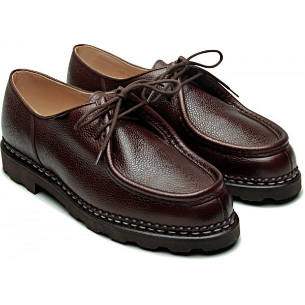 Paraboot Michael Marche Marron Ebene Brown Grain Leather Shoes