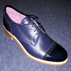 Barker Poppy Toe Cap Style Navy Patent/Navy Calf Ladies Shoes (03)