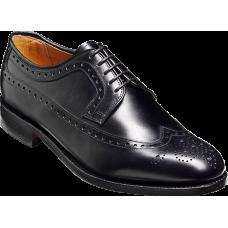Barker Portrush Derby Wingtip Style Black Mens Leather Shoes (08)