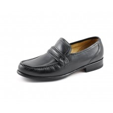 Loake Moccasin Style Rome Black Mens Shoes