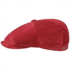 Stetson Hatteras Red Corduroy Flat Cap Style Mens Hat