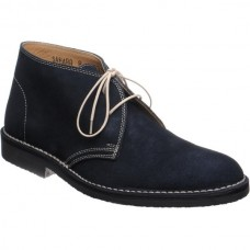 Loake Desert Boot Style Sahara Navy Suede Mens Shoes