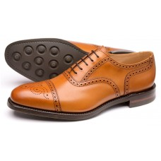 Loake Seaham Oxford Brogue Tan Mens Shoes (07)
