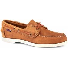 Sebago Docksides Portland Crazy Horse 912 Dark Brown Leather Mens Boat Shoes