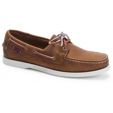 Sebago Docksides Portland 900 Dark Brown Leather Mens Boat Shoes