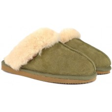 Shepherd Jessica Ladies Slippers Olive/Chestnut
