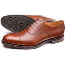 Loake Archway Toe Cap Oxford Mens Brown Shoes (08)