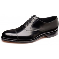 Loake Toe Cap Oxford Style Elgin Black Mens Shoes (08)