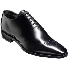 Barker Oxford Brogue Wholecut Style Mozart Black Mens Shoes (07)