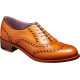 Barker Sloane Oxford Wingtip Brogue Style Cedar Calf Ladies Shoes