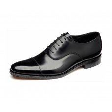 Loake Plain Oxford Toe Cap Style Smith Black Mens Shoes