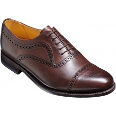 Barker Southampton Toe Cap Oxford Dark Walnut Calf Leather Mens Shoes (Size 11)