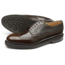 Loake Sovereign Longwing Brogue Dark Brown Mens Shoes (10)