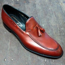 Barker Tassel Loafer Style Burgundy Grain Mens Shoes (12)