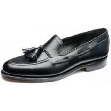Loake Loafer Style Temple Black Mens Leather Shoes (10)