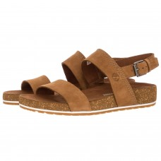 Timberland Two Strap Ladies Sandals Malibu Waves Saddle Brown