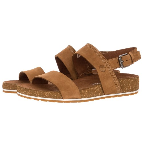 Timberland Malibu Waves Two Strap Ladies Sandals Saddle Brown 481168ffecaf