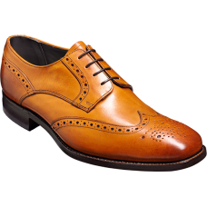 Barker Toddington Derby Wingtip Style Cedar Calf Mens Leather Shoes (09½)