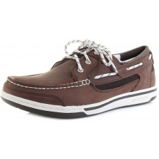 Sebago Triton 3 Eye Mens Dark Brown Nubuck Leather Mens Deck Shoes