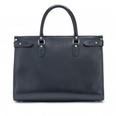 Tusting Kimbolton Navy Leather Tote