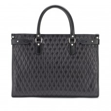 Tusting Kimbolton Black Quilt Leather Tote