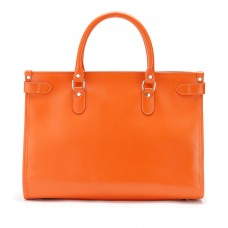 Tusting Kimbolton Honeydon Orange Leather Tote