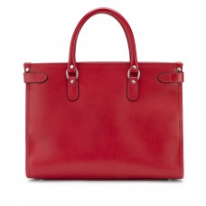 Tusting Kimbolton Red Leather Tote