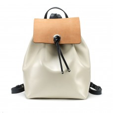 Tusting Erica Tan Navy Cream Leather Backpack