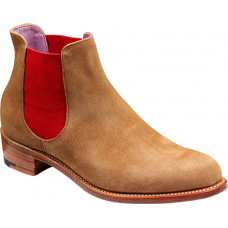 Barker Chelsea Boot Style Violet Snuff Sede / Red Elastic Ladies Boots