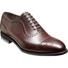 Barker Warrington Mocha Calf Brogue Oxford Toe Cap  Shoes (09)