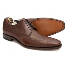Loake Brogue Style Brown Waterloo Shoes