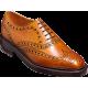 Barker Westfield Brogue Wingtip Style Cedar Calf Leather Mens Shoes